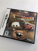 Cars Mater National Complete (Case, Art, Manual, Game) Nintendo DS Disney Pixar