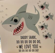 Handmade Personalised Birthday Card Father's Day Card  Baby Shark Googly Eyes 🦈