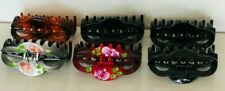 HAIR CLIPS CLAW UNBRANDED-ASSORTED  MADE IN KOREA 6 PIECES