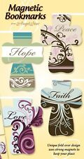 AngelStar Magnetic Fold over Inspirational Word Cross Bookmark Pack