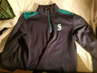 Seattle Mariners MLB Authentic Pullover Jacket 1/4 Zip Size XL