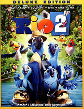Rio 2 Blu-ray/Blu-ray 3D/DVD 3-Disc Set Deluxe Edition Includes Digital Copy