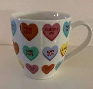 Love Heart Design Large Hugga Mug - Large Porcelain Mug 500ml