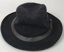 CC Filson 100% Wool Charcoal Gray Packer Hunting Fishing Hat Made In USA Vintage