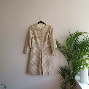 Betty Hartford Vintage 60s Disco Gold Dress Great retro Costume best fit size 12
