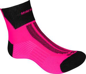 More Mile Lumino Lite Running Socks Pink Lightweight Race Sock Womens Junior