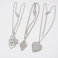 lia sophia jewelry silver tone heart diamond shape pendant necklace for women