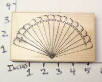 Wooden RUBBER STAMP Decorative Fan For Background or Border