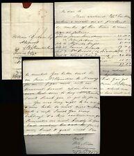 1825 BRECON /174 Red undated mileage letter W. R. Alder to Alnwick