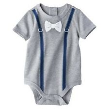 Bow Tie & Suspender Bodysuit by Circo (Gray), Size: 24 months