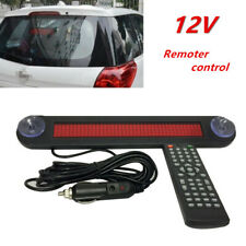 12V Car Trucks LED Editable Message Sign Scrolling Display Board Remote Control