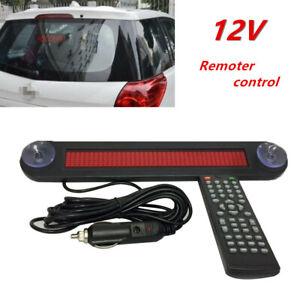 12V Car Trucks LED Editable Message Sign Scrolling Display Board Remote Control