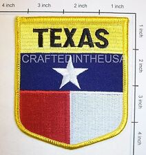 Texas State Flag Shield Embroidered Patch Sew Iron On Biker Vest Applique Sewing