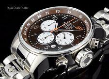 NEW Invicta Men's 48mm S1 Rally Quartz Chronograph Brown Dial Bracelet Watch