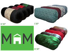 Luxury Bolster Cylinder Pillow Cushion Multi Designs Velvet