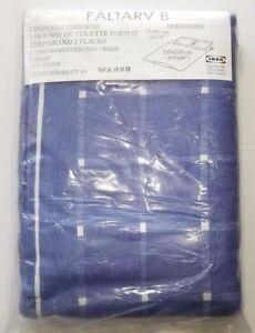 New IKEA Faltarv B King Size Quilt Duvet Cover 2 King Pillow Shams 100% Cotton