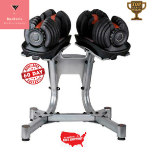 Limited New 1090 Adjustable Dumbbells 90 Lbs Pair+stand 4-6 Week Arrival