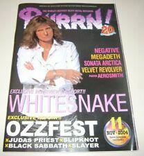 BURRN! 11/04 Japan Magazine Whitesnake Velvet Revolver Ozzfest Tyler poster