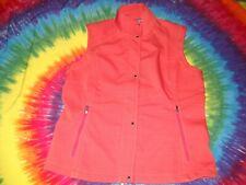 Ariat Vest Topline Wms 10019305 Red Orange Sleeveless Jacket Button Zip New-Nr