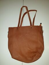 Women Brown faux Leather Shoulder Tote Bag