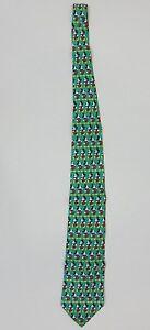 Disney Tie Rack 100% Silk Mickey Mouse Tie - Mens OS - Green