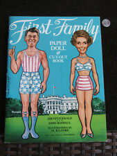 RONALD REAGAN / NEVER USED vintage first family paper doll & cut out book LARGE