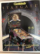 """STARGATE"" BY GOTTLIEB 1970'S PIN PROMO BROCHURE-RARE-""MINT"" IN PLASTIC COVER"