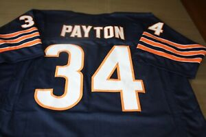 WALTER PAYTON #34 SEWN STITCHED HOME THROWBACK JERSEY SIZE XL HOF 1993