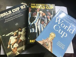 3 WORLD CUP BOOKS - STORY OF THE WORLD CUP, WORLD CUP '82 + HISTORY OF WORLD CUP