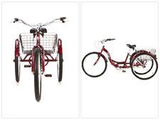 "26"" Adult Tricycle Trike Large Grocery Basket 3 Wheel Bike Bicycle Ride Cruiser"
