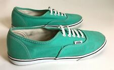 VANS Off the Wall LACE UP Authentic Mint Green Skate Shoes Sneakers Wm's 8.5