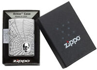 ZIPPO Feuerzeug Spiderweb Skull Totenkopf - Neuheit 2020 - 60004904