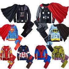 Baby Kid Toddler Boy Superhero Top+Pants Pajamas Sleepwear Nightwear Clothes Set