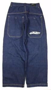 JNCO 85 Men's Baggy Skater Graffiti Patch Wide Leg Jeans Size 32