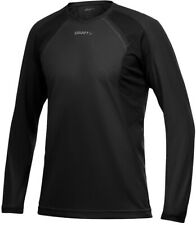 Craft Active Bike Mens Cycling Jersey Black Loose Long Sleeve Cycle Top S M L
