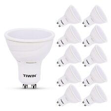 10x 5W TIWIN GU10 LED A+ Spot Lampe, ersetzt 60W, Warmweiss, 540 Lumen