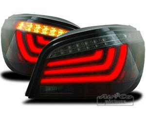 BMW 5er E60 Limousine Stufenheck LED Lightbar Rückleuchten Rot-Smoke Bj.2003-07