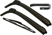 Front & Rear Windscreen Wiper Blades MITSUBISHI Carisma Hatchback 2000>2004