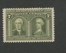 Canada 1908 Montcalm & Wolfe Fine-Very Fine LH 7c Stamp #100 CV $200