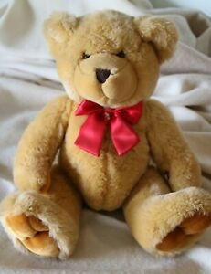 Gorgeous teddy bear red bow Simply Soft Collection by Keel Toys