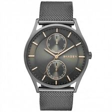 Watch Skagen Holst SKW6180 Multifunction Men's knit Milano Mesh Gray