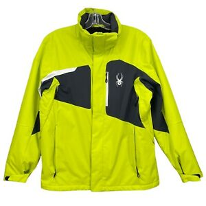 Spyder Sentinel Insulated Ski Jacket Mens M Waterproof Insulated Electric Yellow