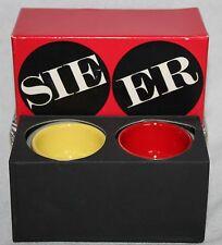 2 Eierbecher Rosenthal studio-line Björn Wiinblad 70er 70s Sie Er /Rot Gelb OVP