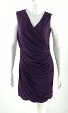 Diane Von Furstenberg Womens Francia Draped Vneck Myrtle Purple Dress Size 10
