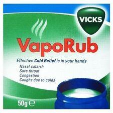 1x Vicks VapoRub Congestion Vapour Rub Relief Chest Eucalyptus Menthol 50g Pack