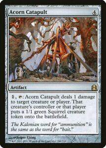 1X Acorn Catapult - Commander 2011 - Spanish, EX MTG CARD