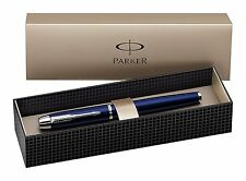 Parker IM Blue Chrome  Trim Fountain Pen with Gift Box - SO856210