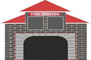 Fire Station Engine Fireman Sam Wall Stickers Mural Decal Wallpaper FS1