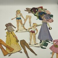 VIntage TAMMY AND PEPPER Cut out PAPER DOLLS Lot