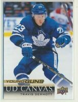 2018-19 Upper Deck Series 1 Canvas Young Guns C107 Travis Dermott Maple Leafs